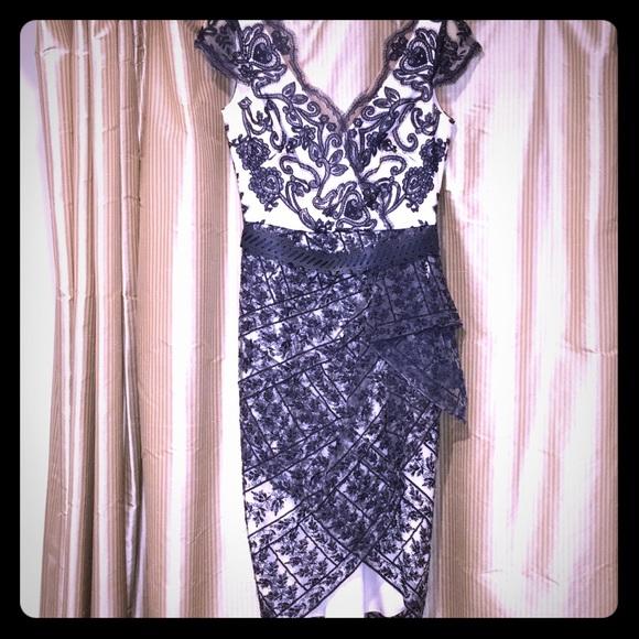 28798502 Marchesa Dresses | Notte Cocktail Dress Size 0 | Poshmark